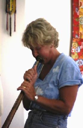 Joy with a Tibetan Long Horn
