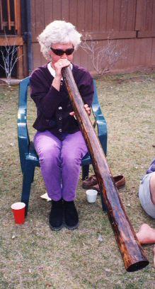 Sedona didgeridoo class, 3 day retreat  1998